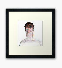 David Bowie Aladdin Sane Dots  Framed Print