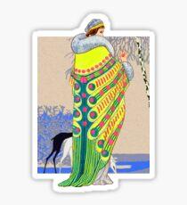 Yellow Peacock Sticker