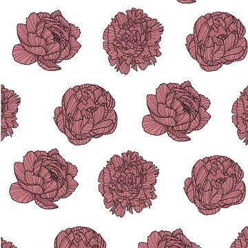 Peonías Ilustración de bloemsgallery