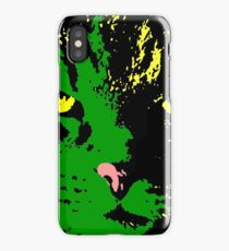 ANGRY CAT POP ART - GREEN  YELLOW RED BLACK iPhone Case/Skin