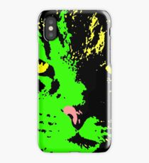 ANGRY CAT POP ART - GREEN RED YELLOW BLACK iPhone Case/Skin