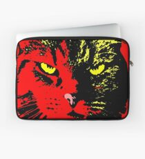 ANGRY CAT POP ART - YELLOW BLACK RED Laptop Sleeve