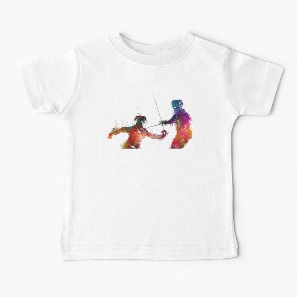 Fencing sport art #fencing Baby T-Shirt