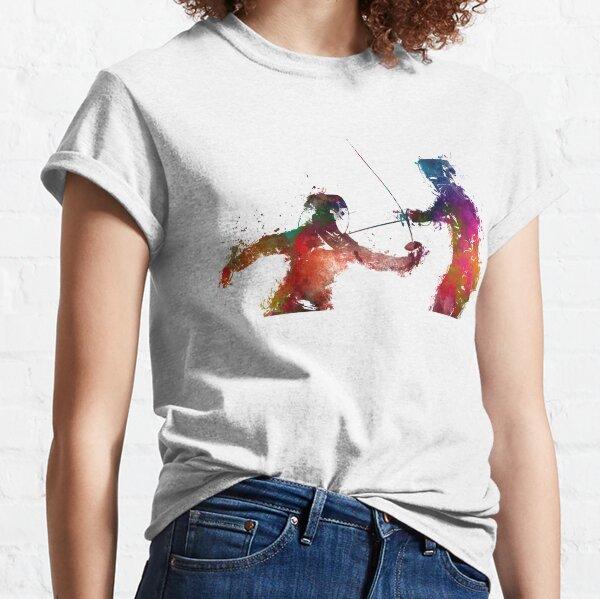 Fencing sport art #fencing Classic T-Shirt