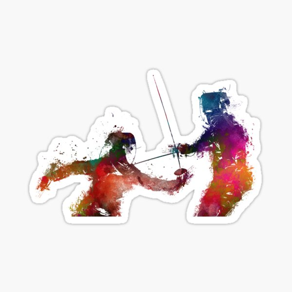 Fencing sport art #fencing Sticker