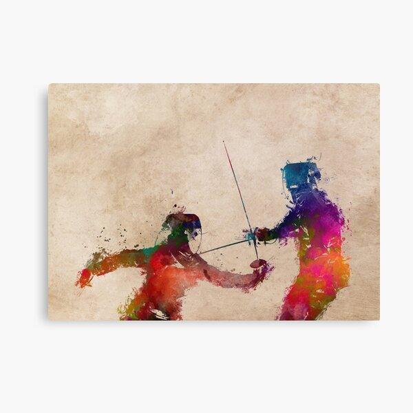Fencing sport art #fencing Canvas Print