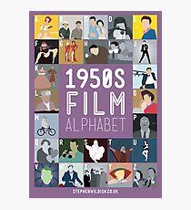 1950s Film Alphabet Photographic Print