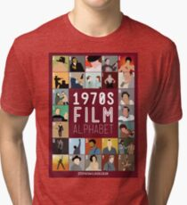 1970s Film Alphabet Tri-blend T-Shirt