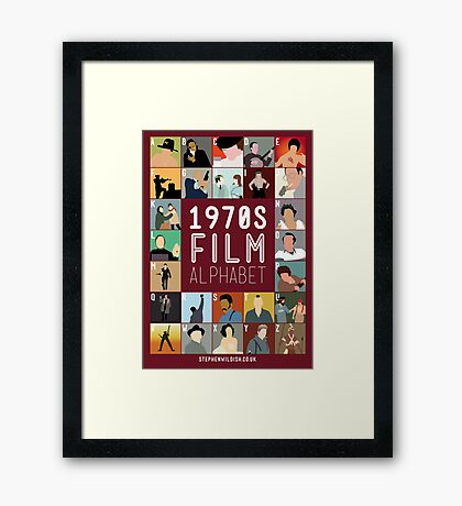 1970s Film Alphabet Framed Print
