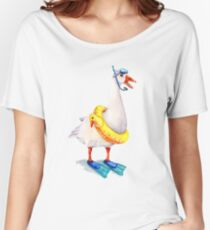 Snorkeling Goose Women's Relaxed Fit T-Shirt
