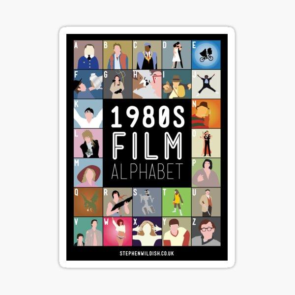 1980's Film Alphabet Sticker