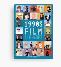 1990's Film Alphabet Canvas Print