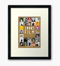 00s Film Alphabet Framed Print