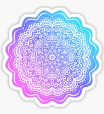Fantasy mandala in pink and blue Sticker