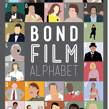 Bond Film Alphabet by Wildyles