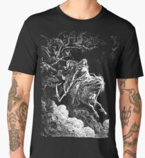 DEATH, Death on the Pale Horse, Revelation, Revenge, Gustave Doré, (1865), Revelations, Seven Seals Men's Premium T-Shirt
