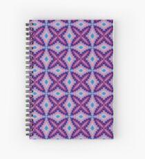 Retro Vintage Baja Hippy Macrame Look Image Purples Spiral Notebook