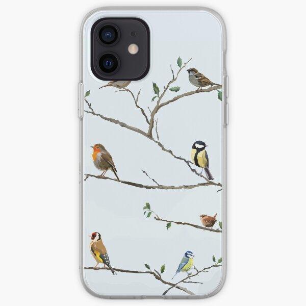Garden birds fill the trees iPhone Soft Case