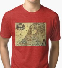 Map of The Netherlands, 1658 Tri-blend T-Shirt