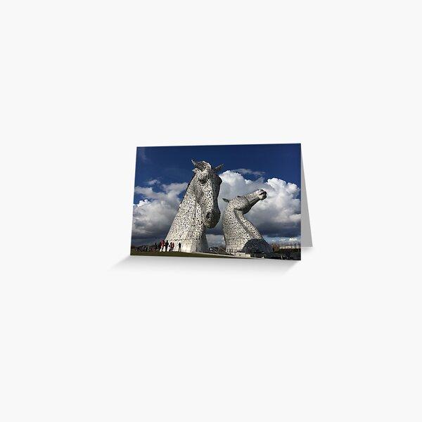 The Kelpies, Helix Park , Grangemouth Greeting Card