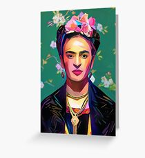 Frida Kahlo Painting Greeting Card