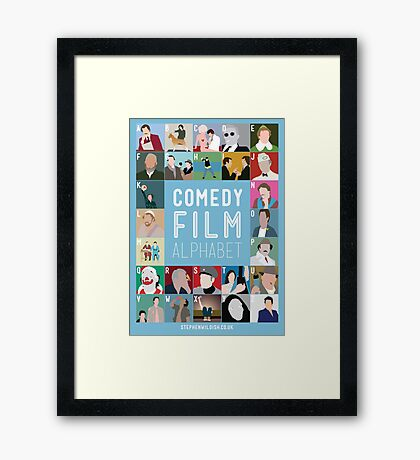 Comedy Film Alphabet Framed Print