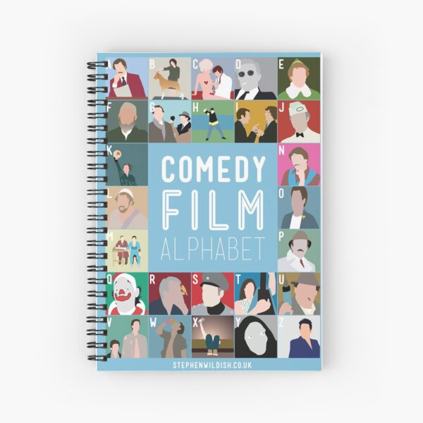 Comedy Film Alphabet Spiral Notebook