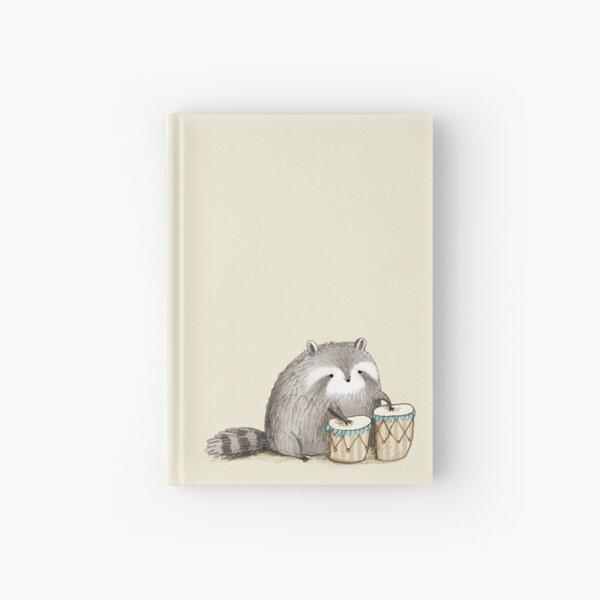 Raccoon on Bongos Hardcover Journal