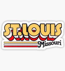 St. Louis, MO | City Stripes Sticker