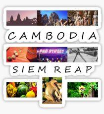 Cambodia, Siem Reap Sticker