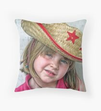 The New Sheriff In Town Throw Pillow