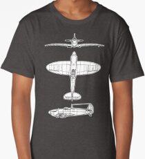 British, Supermarine, Spitfire, Supermarine, Spitfire,  Fighter, WWII, 1942, Fighter, WWII, 1942, on GREY Long T-Shirt