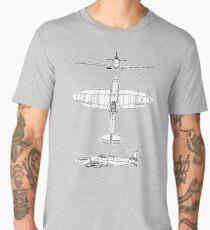 British, Supermarine, Spitfire, Supermarine, Spitfire,  Fighter, WWII, 1942, Fighter, WWII, 1942, on GREY Men's Premium T-Shirt