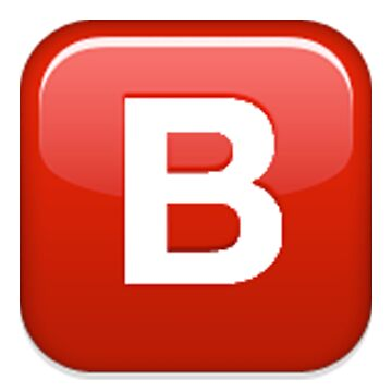 B Emoji by coolbruiser