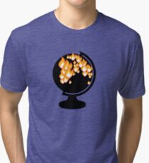 We burned it. Tri-blend T-Shirt