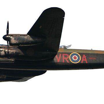 Avro, Lancaster, British, Bomber, RAF, Union Jack, WW11, Second World War, Heavy bomber by TOMSREDBUBBLE