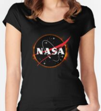NASA Solar Eclipse Women's Fitted Scoop T-Shirt