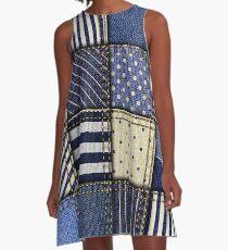 Jeans Textile Art - 4 A-Line Dress