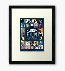 Horror Film Alphabet Framed Print