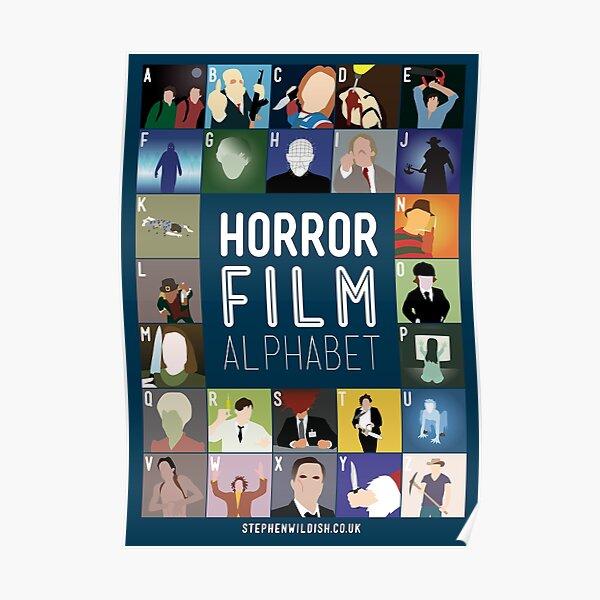 Horror Film Alphabet Poster
