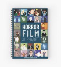 Horror Film Alphabet Spiral Notebook