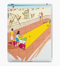1960's Original Shuffleboard Artwork for a motel's pre opening brochure iPad Case/Skin