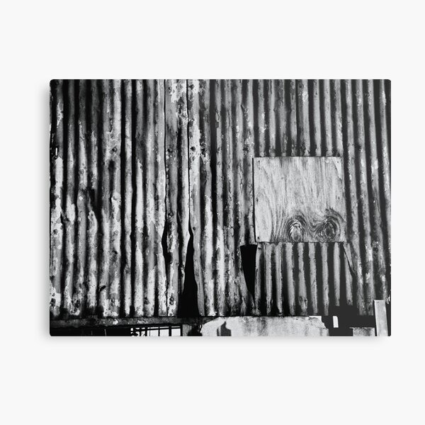 Dereliction in Mono Metal Print