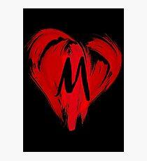 M - GRAFFITI HEART Photographic Print