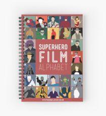 Superhero Film Alphabet Spiral Notebook
