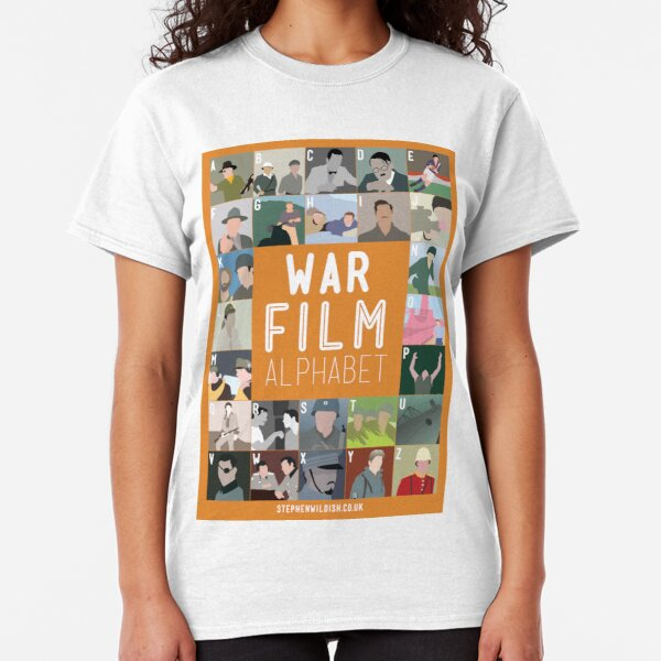 War Film Alphabet Classic T-Shirt