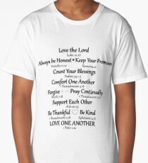 Bible Verse Quote Affirmations Long T-Shirt