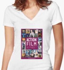 Action Film Alphabet Women's Fitted V-Neck T-Shirt