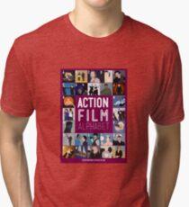 Action Film Alphabet Tri-blend T-Shirt