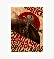 Code Geass | Lelouch Zero propaganda | Justice will prevail  Art Print